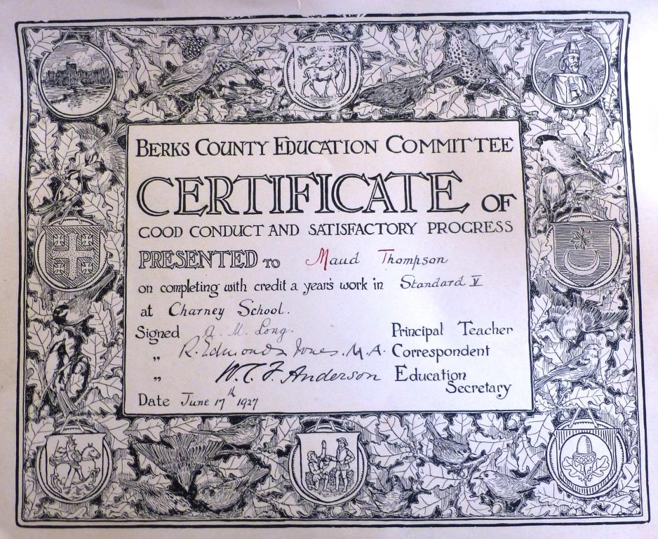 Good Conduct and Satisfactory Progress Certificate