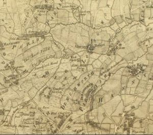 Enlarged part of Roques Map