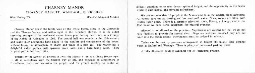 Inside of leaflet