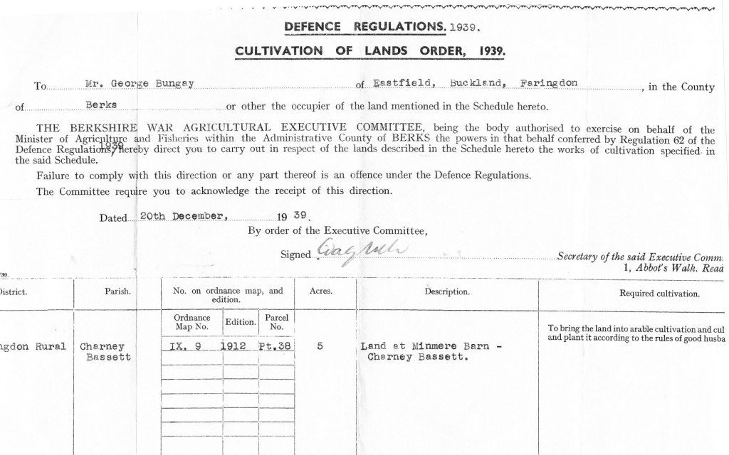 Defence Regulation Minmere Barn